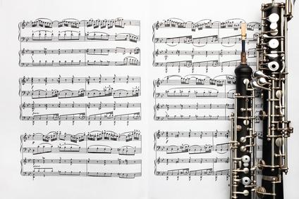 Oboe mit Noten